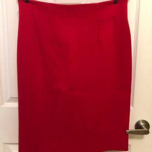 CELINE vintage, 100% wool skirt, dark pink/red